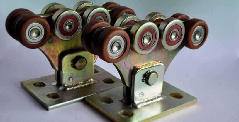 Комплект для відкатних воріт до 400кг (металополімер посилений)