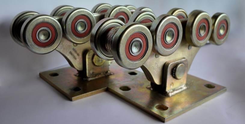 Комплект для откатных ворот до 800кг (металл усиленный)