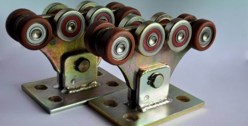 Комплект для откатных ворот до 400кг (металлополимер усиленный)
