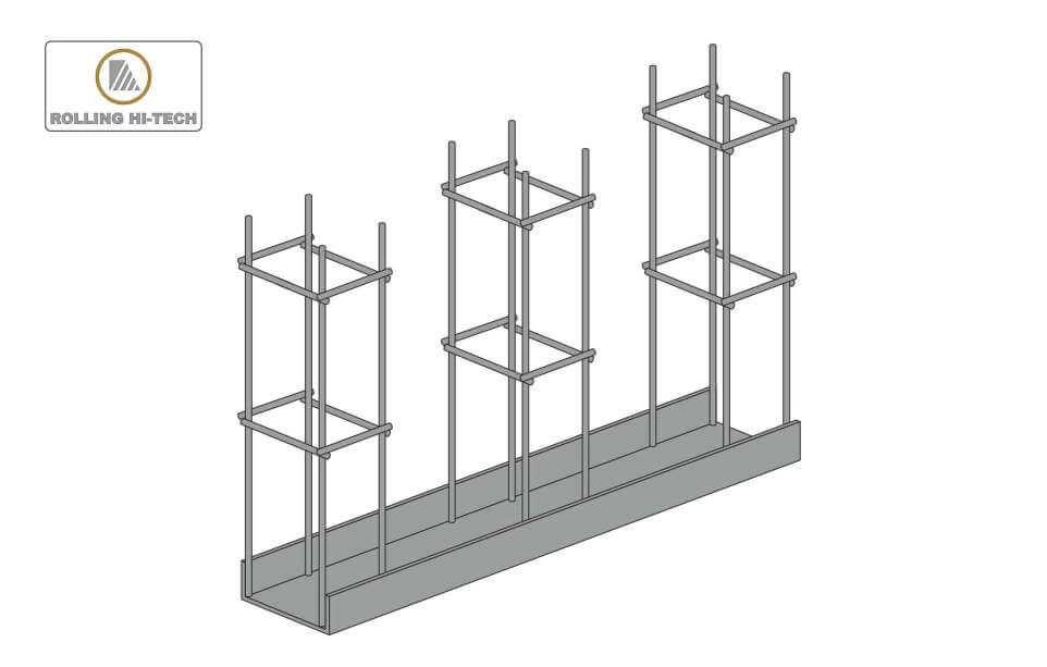 Откатные ворота: закладная