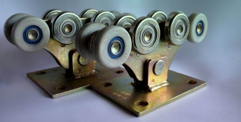 Комплект для откатных ворот до 700кг (металлополимер усиленный)