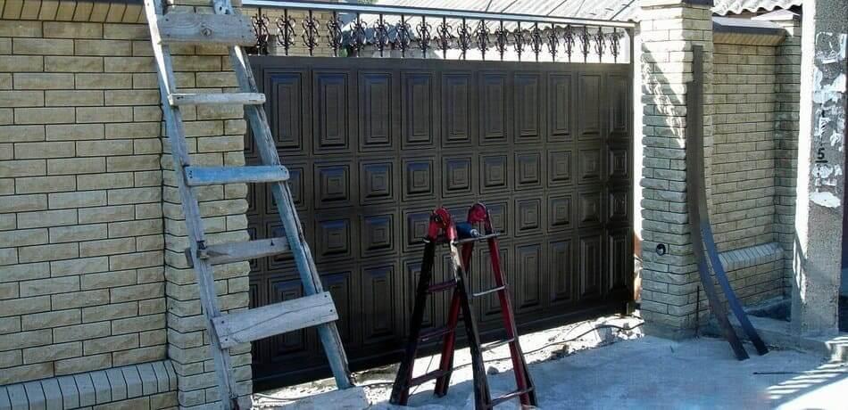 Усиленные филенчатые ворота