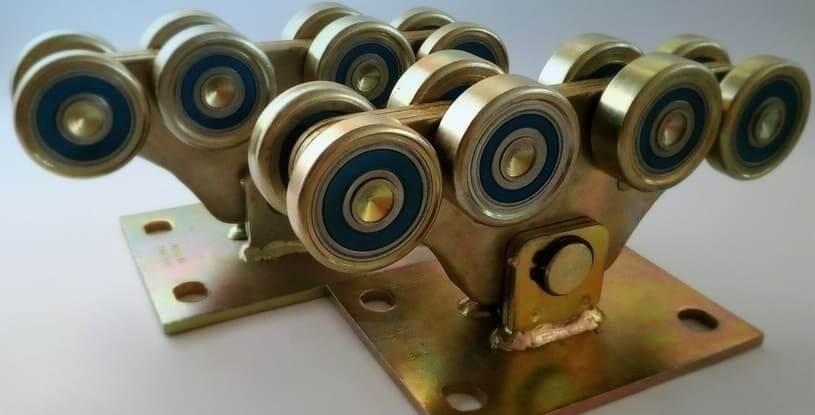 Комплект для откатных ворот до 1000кг (металл усиленный)