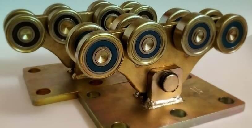 Комплект для откатных ворот до 1500кг (металл усиленный)